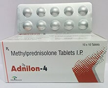 ADNILON-4 TAB. | Methylprednisolon 4mg Tab (Alu-Alu)