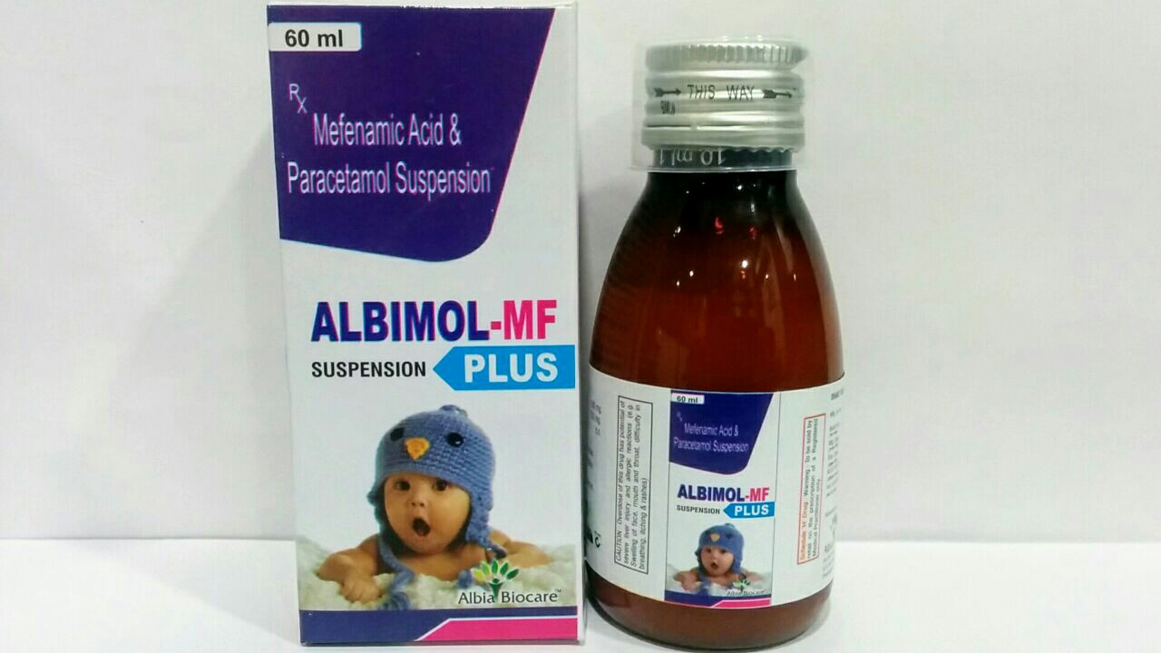 ALBIMOL-MF PLUS Susp. | Paracetamol 250mg and Mefanamic Acid 100mg per 5ml