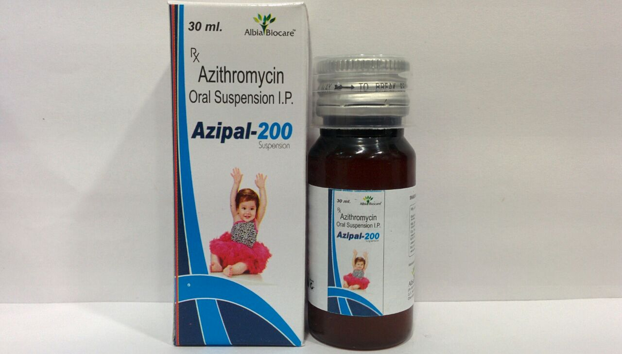 AZIPAL-200 SUSP | Azithromycin 200 mg (per 5 ml)