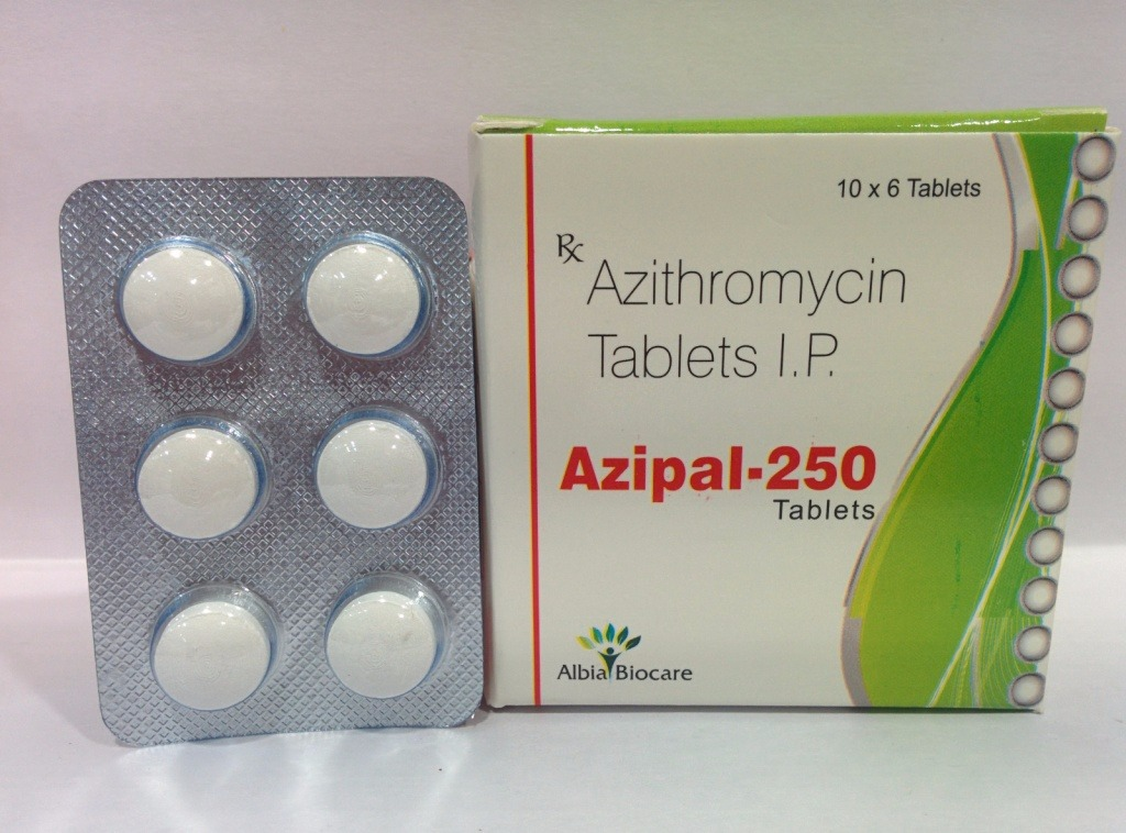 AZIPAL-250 TAB | Azithromycin 250mg (Blister pack)