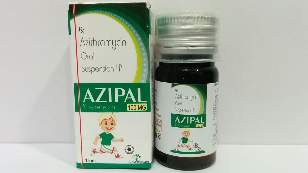 AZIPAL-100 SUSP | Azithromycin 100 mg (per 5 ml)