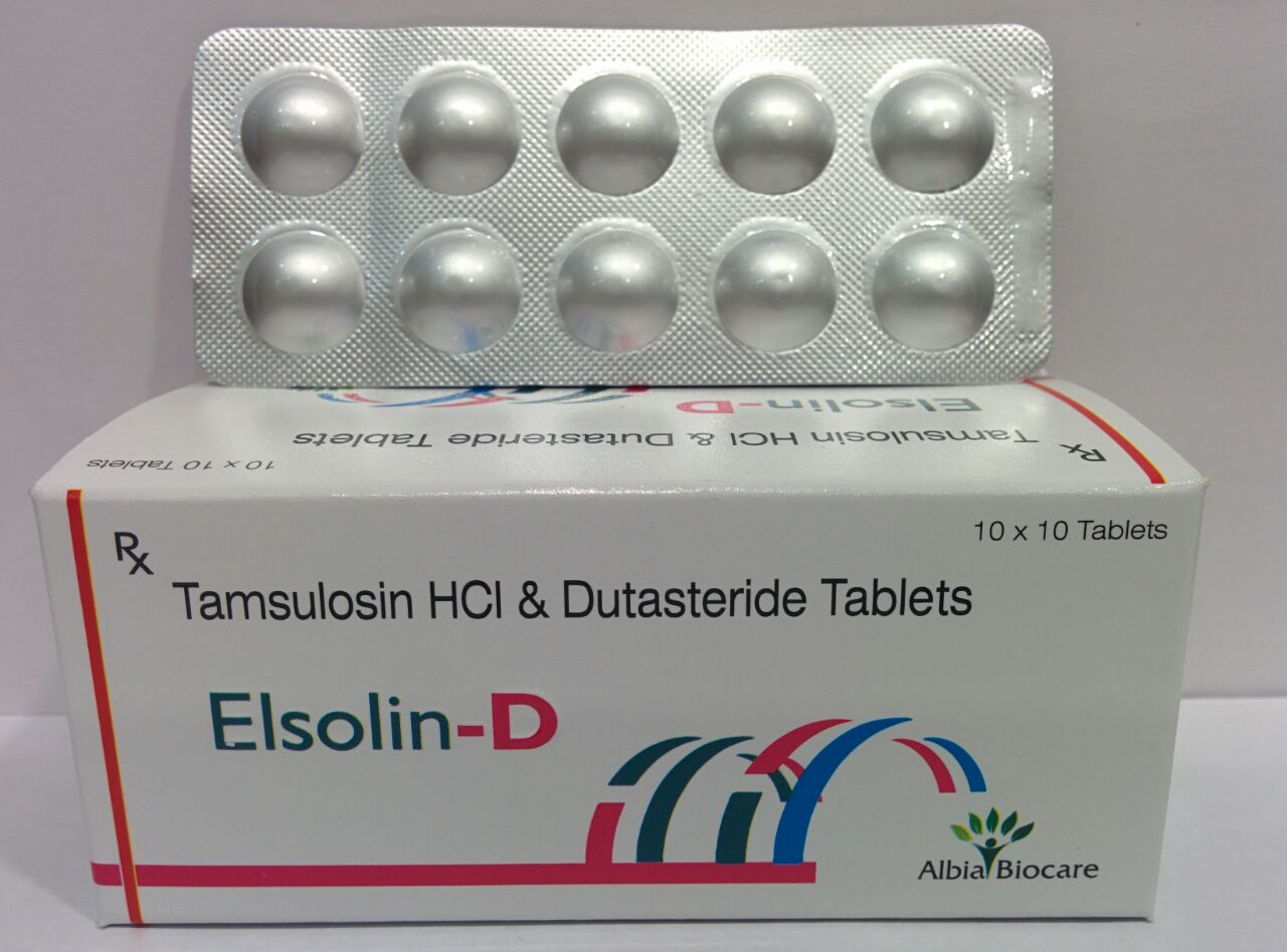 ELSOLIN-D TAB. | Tamsulosin 0.4mg (MR) + Dutasteride 0.5mg (Alu-Alu)