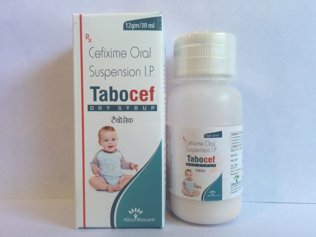 TABOCEF Dry Susp | Cefixime 50mg (per 5 ml)