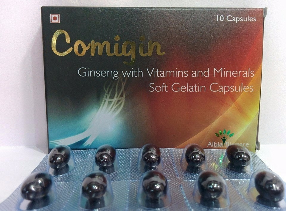 COMIGIN SOFTGEL | Ginseng with Vitamins & Minerals
